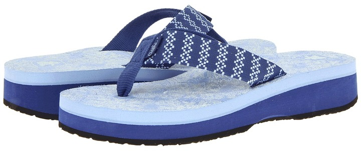Cushe Yoga Flop High (Blue) - Footwear