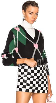 MSGM Argyle Sweater