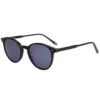 MAREINE Vintage Round Sunglasses Grey Lens/Black Frame - Amazon Vine