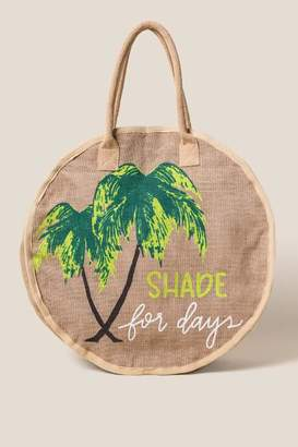 francesca's Shade For Days Jute Tote - Natural
