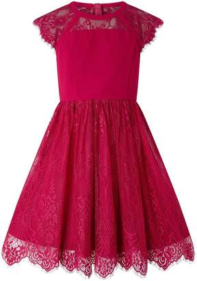 Monsoon Madrid Lace Dress - Red
