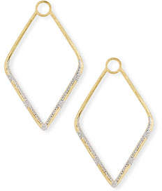 Jude Frances Lisse 18k Gold Large Diamond Kite Earring Charms
