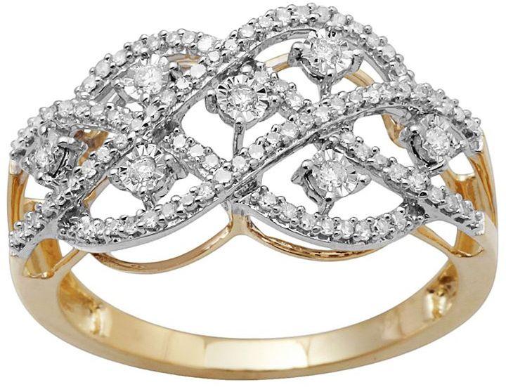 10k Gold 1/3-Ct. T.w. Diamond Openwork Ring