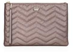 Kate Spade Finley Zig-Zag Stitch Leather Wristlet Pouch