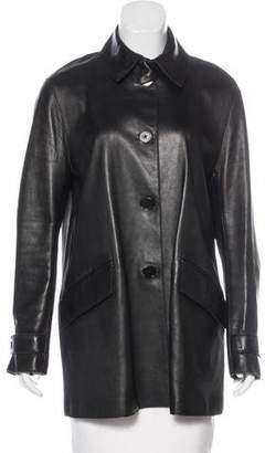 Ralph Lauren Purple Label Oversize Leather Jacket
