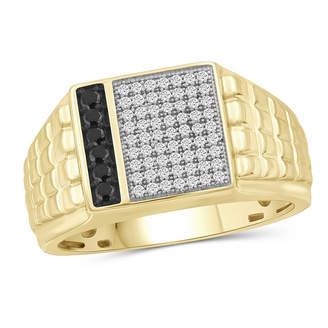 Black Diamond FINE JEWELRY Mens 1/3 CT. T.W. Genuine 14K Gold Over Silver Ring