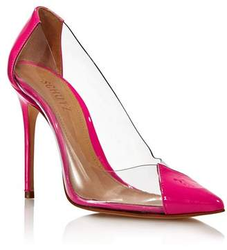 348a04cf86b34 Schutz Women's Cendi Patent Leather High-Heel Pumps