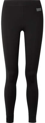 Monreal London Athlete Striped Stretch Leggings - Black