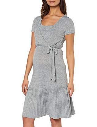 9717ebefacd5 Mama Licious Mamalicious Women's Mlkada Tess S/s Jersey Abk Dress Nf Medium  Grey Melange
