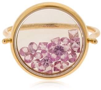 Aurelie Bidermann Chivor Bague Sapphire Rose Gold Ring