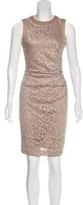 Calvin Klein Floral Lace Sleeveless Knee-Length Dress