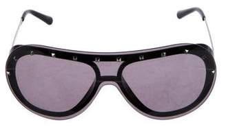 Valentino Rockstud Sheild Sunglasses