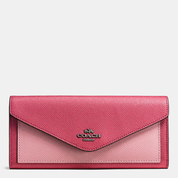Coach   COACH Coach Colorblock Soft Wallet