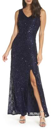 Morgan & Co. Sequin & Lace Gown