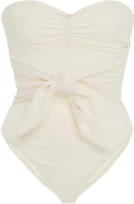 Onia +WeWoreWhat Capri Tie-Detailed Eyelet Swimsuit Size: S