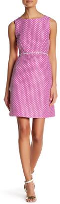 Tahari Polka Dot Fit & Flare Dress (Petite) $128 thestylecure.com
