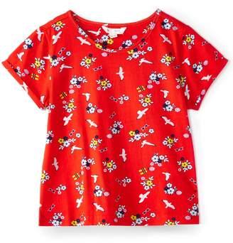 Yumi Girls Girls Seagulls And Sunglasses Print T-Shirt