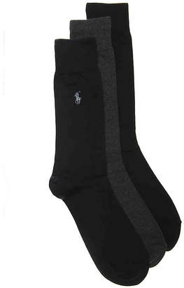 Polo Ralph Lauren Solid Dress Socks - 3 Pack - Men's