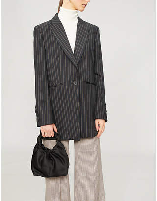 Sandro Pinstriped-pattern woven jacket