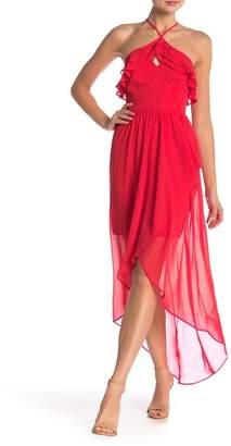 BCBGeneration Ruffle Hi-Lo Maxi Dress