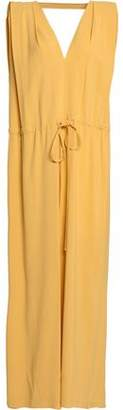 Jil Sander Wrap-Effect Crepe Maxi Dress
