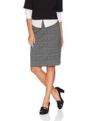 Nine West Women's Knit Tweed Slim Skirt