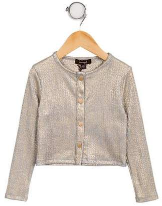 Imoga Girls' Drew Metallic-Accented Cardigan w/ Tags