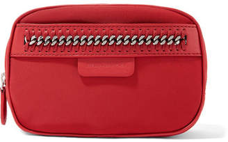 Stella McCartney The Falabella Chain And Faux Leather-trimmed Shell Cosmetics Case - Red