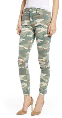 Mother The Looker Ripped High Waist Ankle Skinny Jeans (See Me Camo)