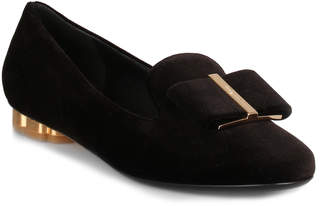 Salvatore Ferragamo Sarno Black Velvet Loafer