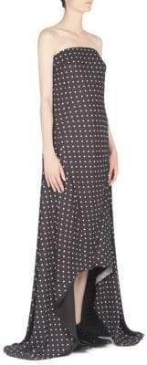 Haider Ackermann Strapless Polka-Dot Gown