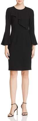 Elie Tahari Sibyl Ruffle-Trim Dress