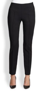 Saks Fifth Avenue Collection Seamed Skinny Stretch Pants