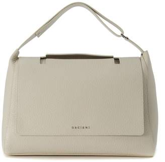 Orciani Shoulder Bag In Ivory Tumbled Leather