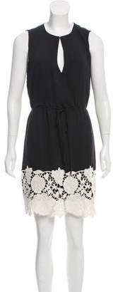 Halston Embroidered Mini Dress