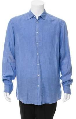 Massimo Alba Linen Button-Up Shirt