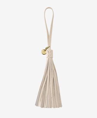 GiGi New York Leather Bag Tassel, Ivory
