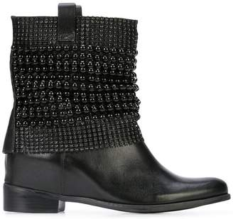 Schutz embellished wedge ankle boots