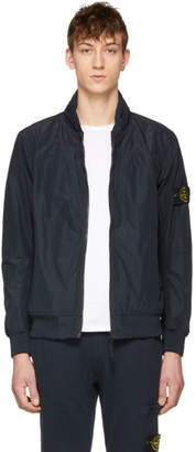Stone Island Navy Nylon Arm Badge Jacket
