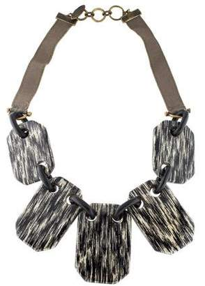 Lela Rose Lacquered Wood Collar Necklace