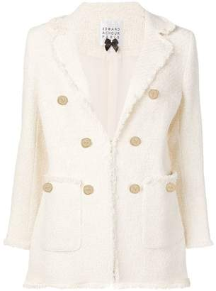 Edward Achour Paris structured tweed blazer