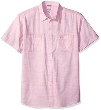 Izod Men's Dockside Chambray Solid Short Sleeve Shirt (Regular and Slim Fit)