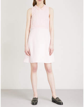 Claudie Pierlot Heart lace-embroidered crepe mini dress