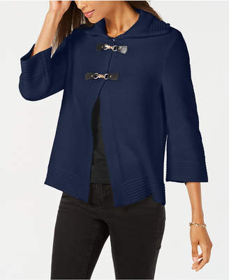JM Collection Wing-Collar Flyaway Cardigan