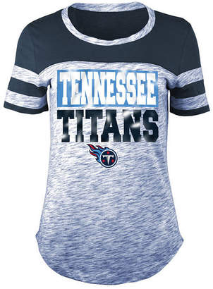5th & Ocean Women's Tennessee Titans Space Dye Foil T-Shirt