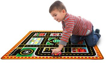 Toddler Melissa & Doug 'Round The City' Play Rug & Rescue Vehicles