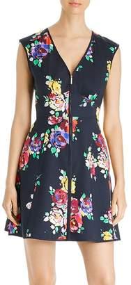 Kate Spade Rare Roses Poplin Zip-Front Dress