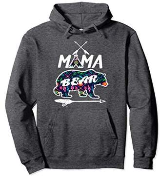 Mama Bear Floral Pattern Family Vacation Camping Hoodie