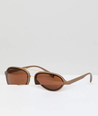 A. J. Morgan AJ Morgan Aviator Sunglasses In Matte Brown