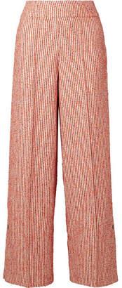 By Malene Birger Celsa Bouclé Wide-leg Pants - Red